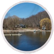 The  Inlet Round Beach Towel