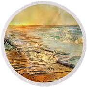 The Inspirational Sunrise Round Beach Towel