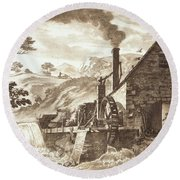 The Iron Forge Between Dolgelli Round Beach Towel