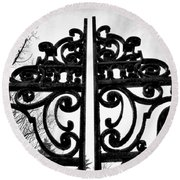 The Iron Gate Round Beach Towel