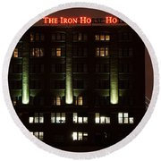The Iron Horse Hotel Round Beach Towel