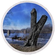 The James River One Round Beach Towel