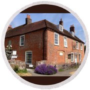 The Jane Austen Home Chawton England Round Beach Towel