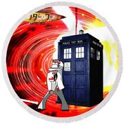 The Japanese Dr. Who Round Beach Towel