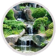 The Japanese Garden Round Beach Towel by Bill Cannon