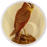 The Java Owl Cassell Round Beach Towel