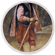 The Jester Named Don John Of Austria Round Beach Towel