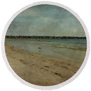 The Jetty Round Beach Towel by Sandy Keeton