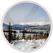 The John River Valley Round Beach Towel
