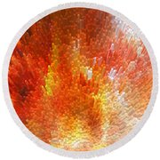 The Journey - Abstract Art By Sharon Cummings Round Beach Towel