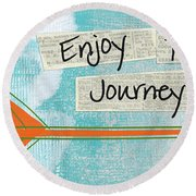 The Journey Round Beach Towel by Linda Woods