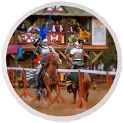 The Jousters 2 Round Beach Towel