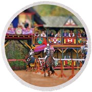 The Jousters Round Beach Towel