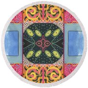 The Joy Of Design I X Arrangement Doors Round Beach Towel