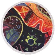 The Joy Of Design II Part Two Round Beach Towel