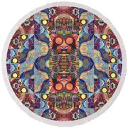 The Joy Of Design Mandala Series Puzzle 1 Arrangement 5 Round Beach Towel