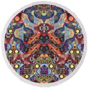 The Joy Of Design Mandala Series Puzzle 1 Arrangement 9 Round Beach Towel