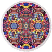 The Joy Of Design Mandala Series Puzzle 3 Arrangement 1 Round Beach Towel