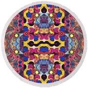 The Joy Of Design Mandala Series Puzzle 3 Arrangement 4 Round Beach Towel