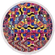 The Joy Of Design Mandala Series Puzzle 3 Arrangement 8 Round Beach Towel