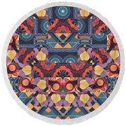The Joy Of Design Mandala Series Puzzle 5 Arrangement 1 Round Beach Towel