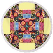 The Joy Of Design Series Arrangement - Seek And You Will Find Round Beach Towel
