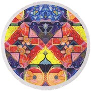 The Joy Of Design Vll Arrangement Offers And Offerings Round Beach Towel