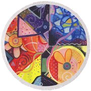 The Joy Of Design Vll Part 3 Round Beach Towel