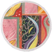 The Joy Of Design X V I Round Beach Towel