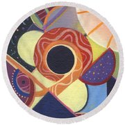 The Joy Of Design X X Round Beach Towel
