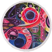 The Joy Of Design Xlll Part 2 Round Beach Towel