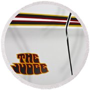 The Judge1969 Pontiac Gto  Round Beach Towel