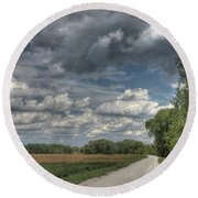 The Katy Trail Round Beach Towel by Jane Linders