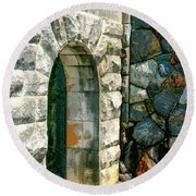 The Keep Biltmore Asheville Nc Round Beach Towel by William Dey