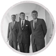 The Kennedy Brothers Round Beach Towel