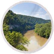 The Kentucky River Round Beach Towel