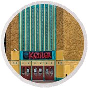 The Kessler Movie Theater Round Beach Towel