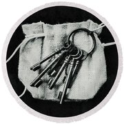 The Keys Round Beach Towel