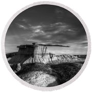 The King Of Wings Monochrome Round Beach Towel