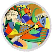 The Kings Jester Round Beach Towel