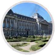 The King's Palace In Brussels Round Beach Towel
