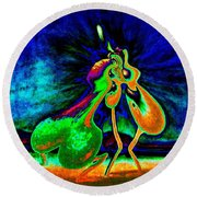 The Kiss Of Nature Round Beach Towel