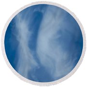 The Kissing Clouds Round Beach Towel