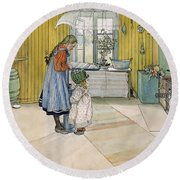 The Kitchen From A Home Series Round Beach Towel
