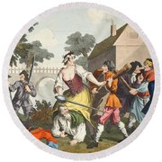 The Knight Submits To Trulla Round Beach Towel