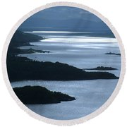 The Kyles Of Bute Round Beach Towel
