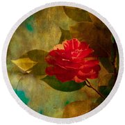 The Lady Of The Camellias Round Beach Towel by Loriental Photography