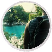 The Lagoon Round Beach Towel by Jasna Buncic