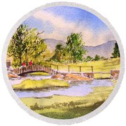 The Lake District - Slater Bridge Round Beach Towel