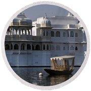 The Lake Palace, India Round Beach Towel